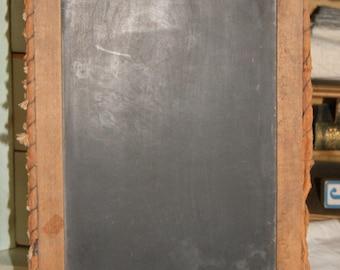 Large Antique Chalkboard Child's School Slate Chalkboard Primitive Slate board 1900s Vintage Slate Board