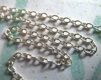 Shop Sale..  3 feet, Silver Chain, Sterling Silver Cable Chain, 10-30% Less, 2.3x1.65 mm, unfinished chain ss S65 hp