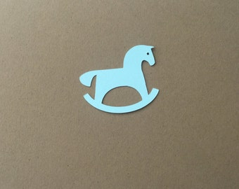 Rocking horse die cuts set of 10 in any color