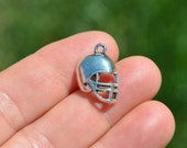 BULK 50  Silver Football  Helmet Charms SC3152