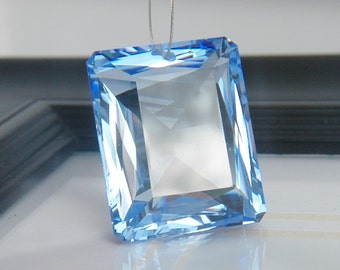 HUGE Blue Topaz Emerald Cut
