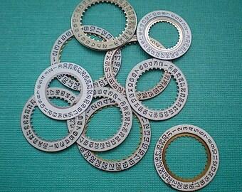 Vintage steampunk watch parts, 10 date wheels #8