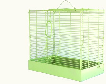 Vintage Metal Birdcage Lime Green SALE was 65.00