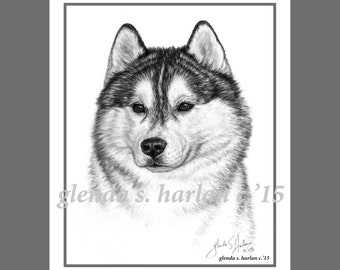 Siberian Husky Fine Art Note Cards - EIGHT PACK