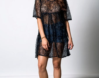 The Black Lace Babydoll Dress