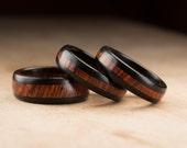 Custom Ebony Cocobolo Three Ring Set