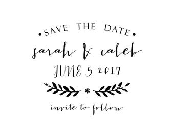 Sarah Suite Save the Date Stamp