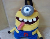 Pajamaeater- minion,  big funny monster pillow, yellow plush toy monster, large home decoration, nice stuffed toy