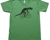 Unisex Urban ALLIGATOR  T Shirt american apparel xs s m l xl and xxl (Grass Green)