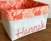Personalized Organization Bin- Childs room- nursery decor- toy bin- Personalized gift- for Childs Room Fabric Basket