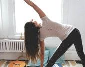 moon phase top // moon tshirt // sexy yoga top
