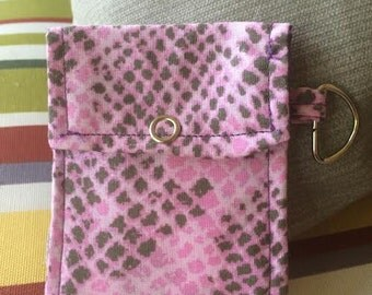 Snake, Pink Snake, snake print, Card holder, credit card holder