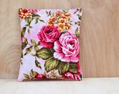 Romantic Rose Lavender Sachet, Pink Floral Scented Pillow, Cottage Chic Decor