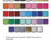 12 Adhesive Vinyl Sheets for Cricut Silhouette or other cutters 12x12 colors of your choice