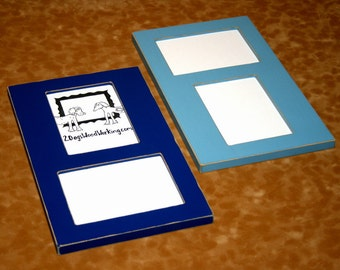 Collage Picture Frame, 2 8x10 openings, vertical horizontal, multiple wall frame, multi picture frame, double 8x10, colored frame, 67 colors