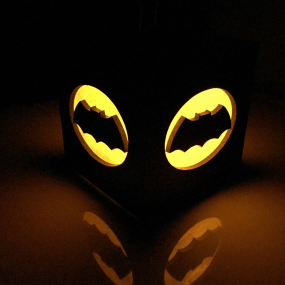 Batman bat signal light box black 3