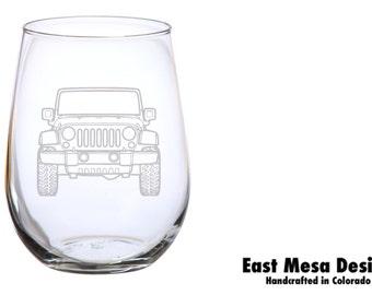 Jeep Wine Glass