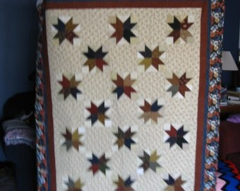 Cozy Fall color Scrappy Quilt