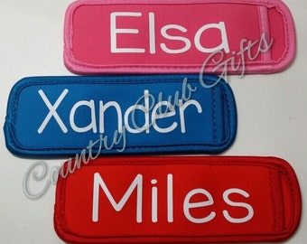 Popsicle Holders/Sleeves, neoprene holder, freeze pop, fun summer gift, personalized party favor, stocking stuffers!