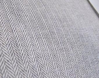 Gray Denim 48 Inch Long Roll Up Window Shade Stage Coach Blind Herringbone