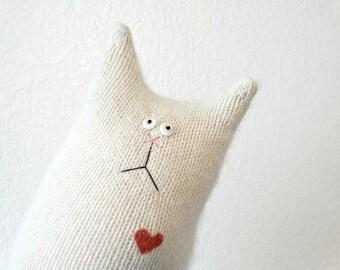 Stuffed Animal Cat Doll - Fluffy White Cat - Plush Cat - Stuffed Cat - Cat Lover Gift - Soft Cat Doll - Soft Toy Cat - White Cat Doll - Cat