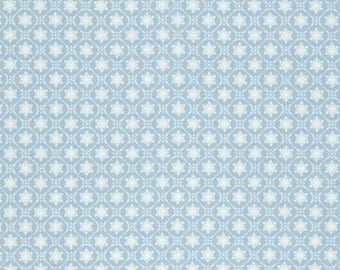 NEW Winters Garden from Tanya Whelan Snowflake in Blue 1 yard