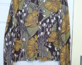Ann Taylor Sweater, Loft, Size Small, soft sweater, vintage clothing, cotton sweater, flowered sweater, womens clothing, misses sweater