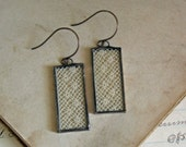 Long Dangle Antique Lace Earrings