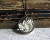 Lichen Long Necklace, Natural Jewelry, Rustic Woodland Wedding