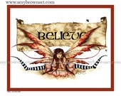 Believe FAIRY PRINT 8.5x11 by Amy Brown