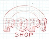 Pop! Shop logo design