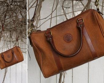 Distressed Leather TIMBERLAND Satchel Doctors Bag Purse Side Bag