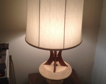 pair of mid century sculptural table lamps by plasto