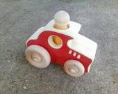 Wooden Toy Hotrod - a wood toy car racecar hot rod