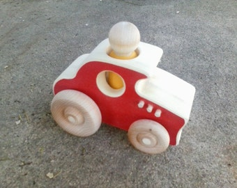 Wooden Toy Hotrod - a wood toy car racecar hot rod