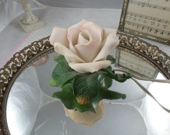 Vintage 1940's Night Light  Shabby Cottage ~ White Roses ~Old World Charm~Shabby Cottage~Victorian Home