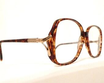 NOS Mod Frame Italy 70s 80s Butterfly Eyeglasses. Larger Faux Tortoise Italian Designer Glasses Sunglasses Never Used. BIG