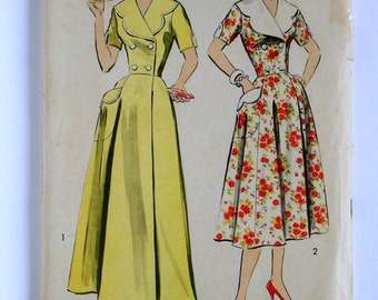 1950's Dress Pattern - Advance 8549 - Vintage Sewing Pattern, Size 12-1/2