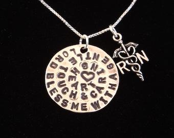 Registered Nurse Prayer Necklace, Gift for RN, Nurse's Prayer Necklace, RN Necklace, Nurse Graduation, Nurse Gift