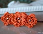 Autumn Crochet Headband - Fall Headband - Skinny Rust Headband - Burnt Orange Headband - Women Headband - Baby Heaband - Crochet Headband -