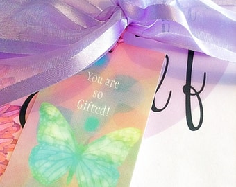 6 gift tags, pretty butterfly gift tags, large gift tags, swing tags, butterfly gift labels