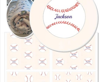 Baseball Organic Cotton Personalized Blanket 32x50 Personalized Throw Blanket, Baby Blanket, Organic Blanket, Fleece Blanket Gift, Sports