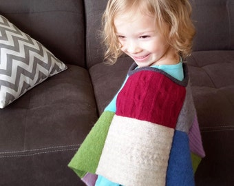 Patchwork Poncho - PDF Sewing Pattern - Sizes 6 months to girl 14 - INSTANT DOWNLOAD