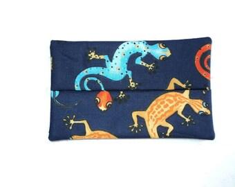 Handmade Fabric Gecko Tissue Holder -  Geckos