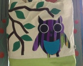 Owl on Two Tone Large Tote