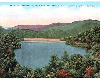 Vintage North Carolina Postcard - Lake Santeetlah near Great Smoky Mountains National Park (Unused)