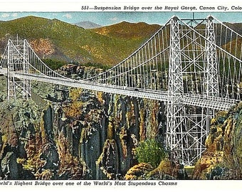 Vintage Colorado Postcard - The Royal Gorge Bridge (Unused)