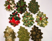 Holly Leaves Iron On Appliques