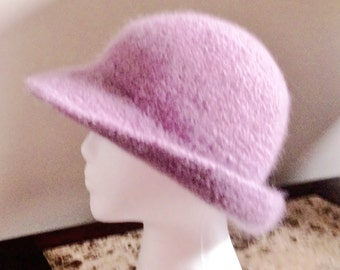 Felted Wool Blush Pink Cloche