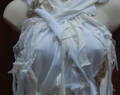 Bride of Frankenstein Mummy Wrap Crop Top Ready to Wear Size Med/ Large